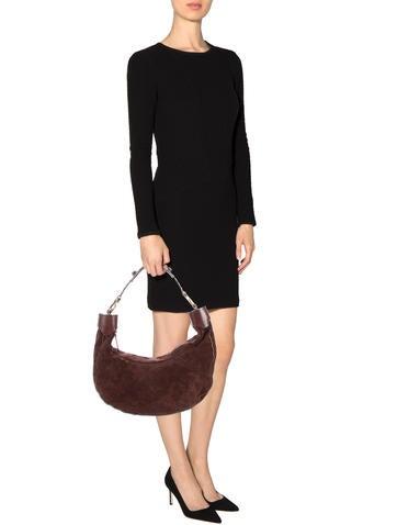 Chloe Suede Shoulder Bag Handbags Chl The Realreal