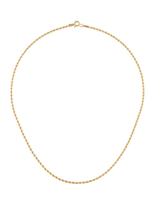 - 14K Chain Necklace Yellow