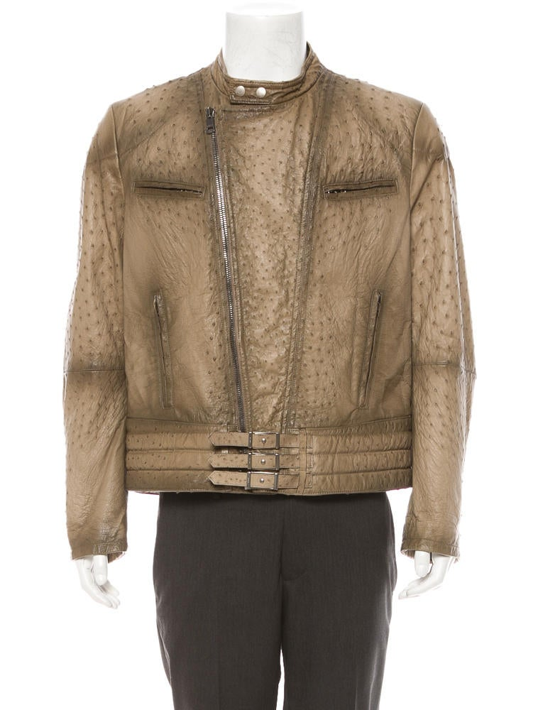 Gucci Ostrich Leather Jacket Clothing 0gu20523 The