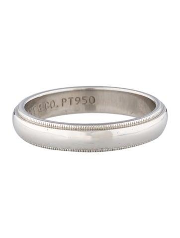 Tiffany Co Platinum Milgrain Wedding Band Rings 0TI20106 The Rea