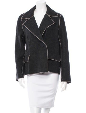 Protagonist Wool Double-Breasted Blazer w/ Tags None
