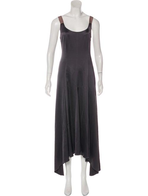 68c8d49a4a3 Alejandra Alonso Rojas Satin Asymmetrical Dress - Clothing ...