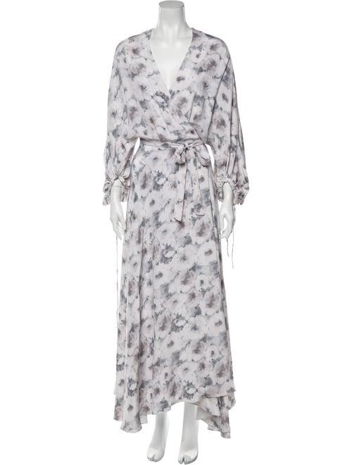 Alejandra Alonso Rojas Silk Long Dress