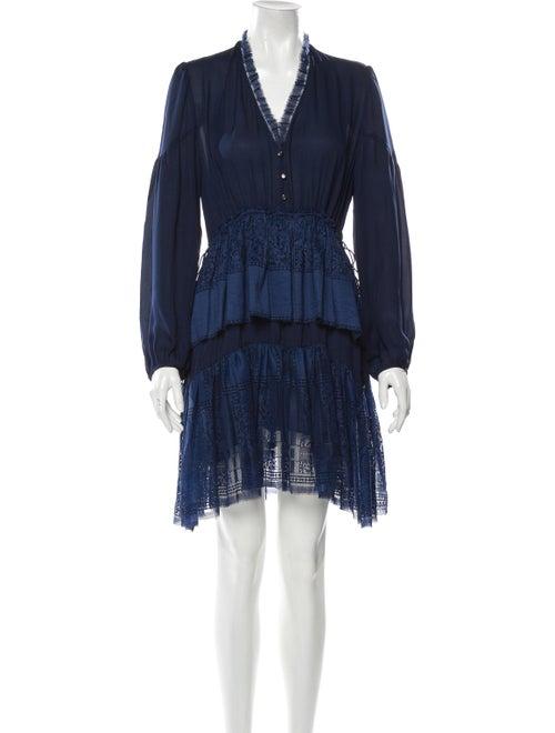 Alejandra Alonso Rojas V-Neck Knee-Length Dress Bl