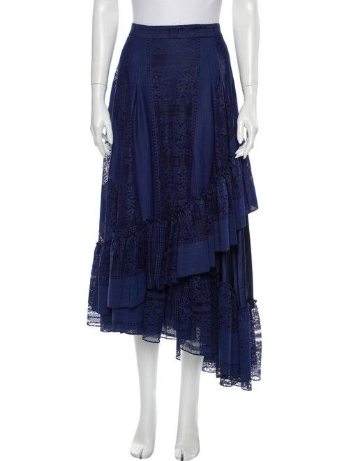 Alejandra Alonso Rojas Midi Length Skirt Blue