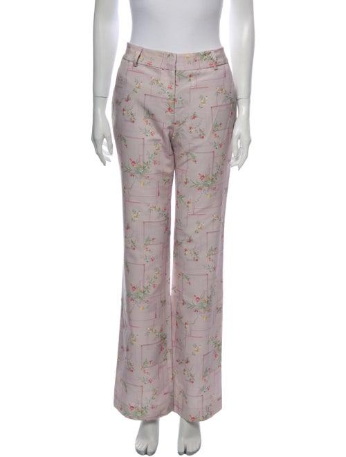 Alejandra Alonso Rojas Floral Print Wide Leg Pants
