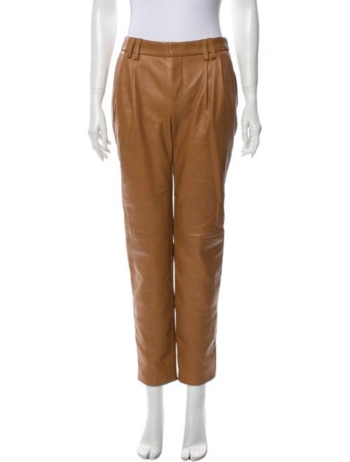 Alejandra Alonso Rojas Leather Straight Leg Pants