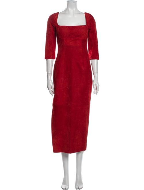 Alejandra Alonso Rojas Square Neckline Long Dress