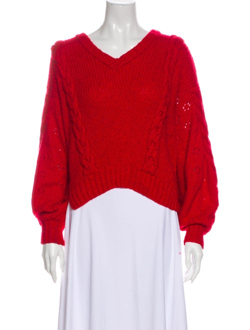 Alejandra Alonso Rojas V-Neck Sweater Red