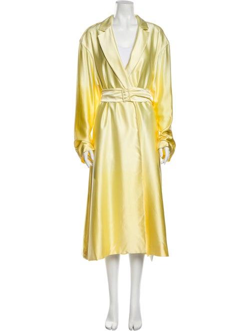 Alejandra Alonso Rojas Silk Trench Coat Yellow