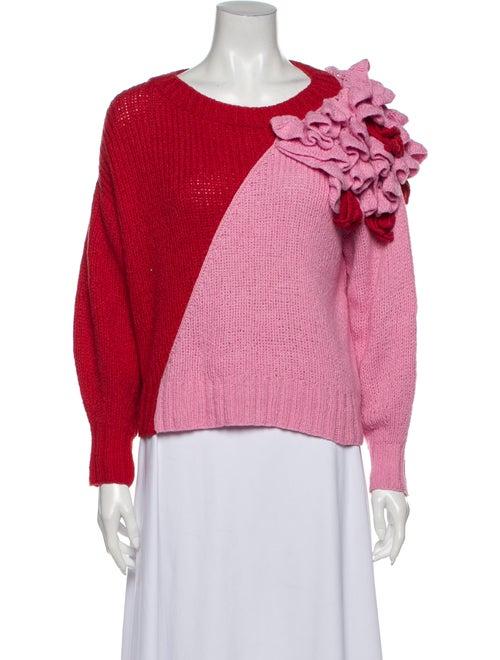 Alejandra Alonso Rojas Scoop Neck Sweater Pink