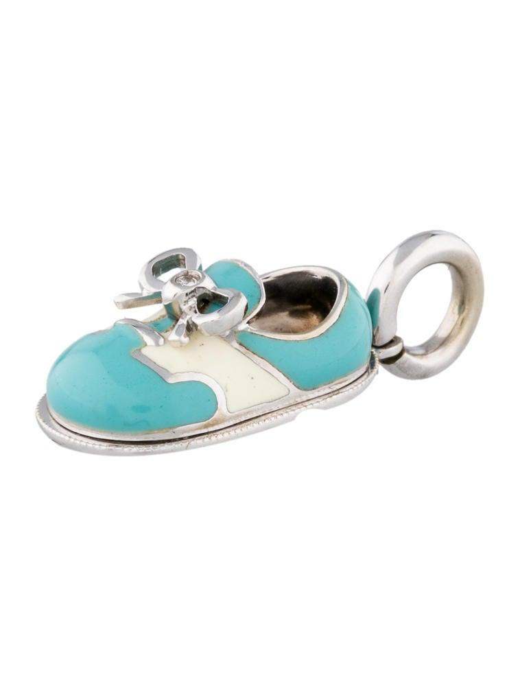 Aaron Basha Diamond Baby Shoe Charm Charms AAR