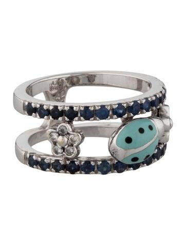 Aaron Basha Double Decker Ladybug Ring