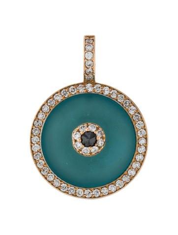aaron basha 18k diamond crystal evil eye medium pendant. Black Bedroom Furniture Sets. Home Design Ideas