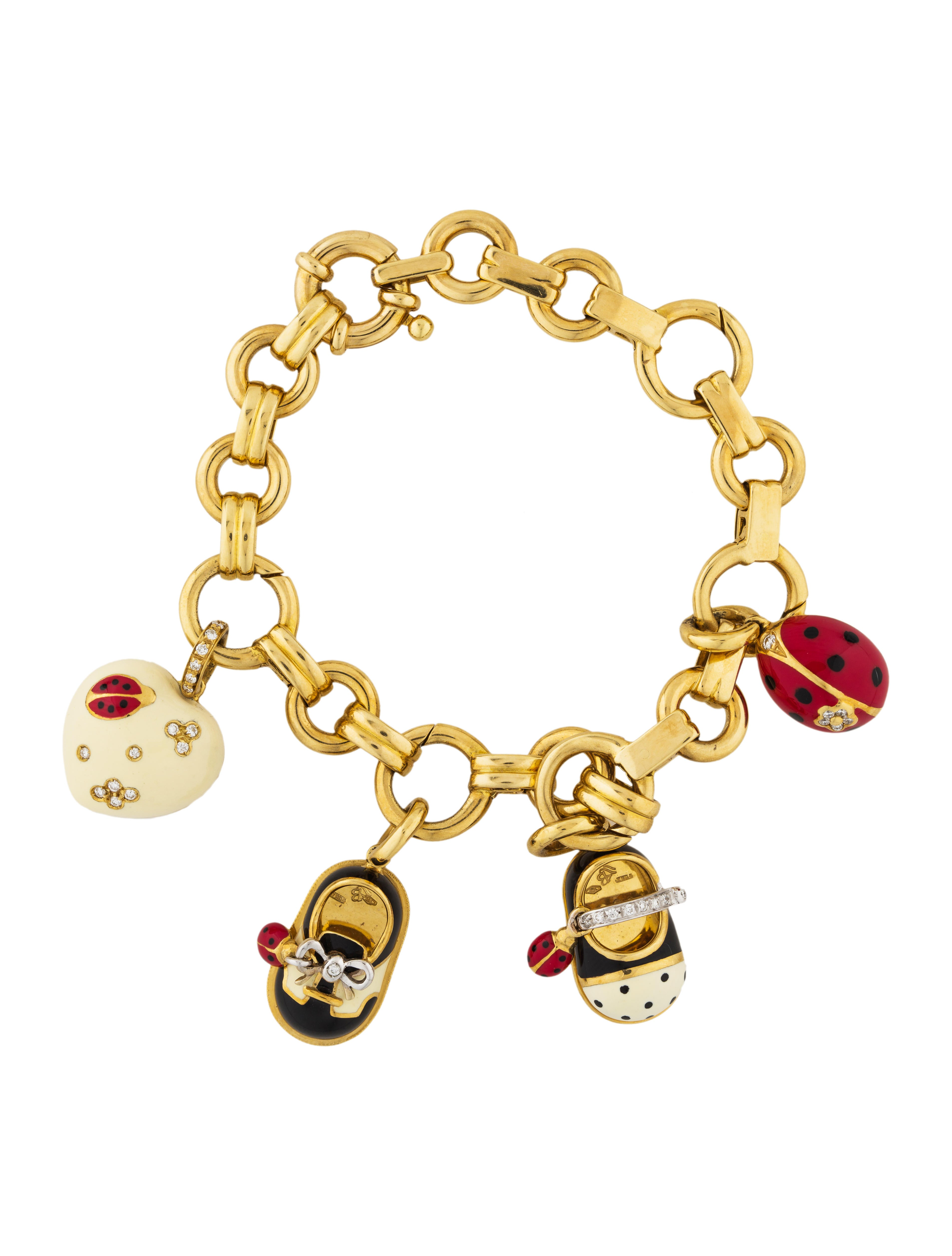 aaron basha 18k charm bracelet bracelets