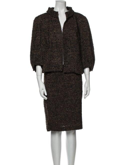 Akris x Bergdorf Goodman Tweed Pattern Skirt Set B