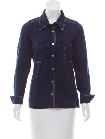 Rani Arabella Knit Button-Up Top None