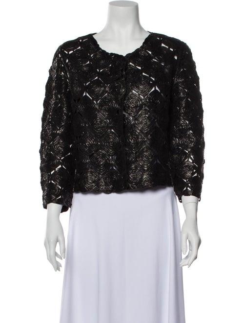 Rani Arabella Vintage Lace Pattern Blouse Black