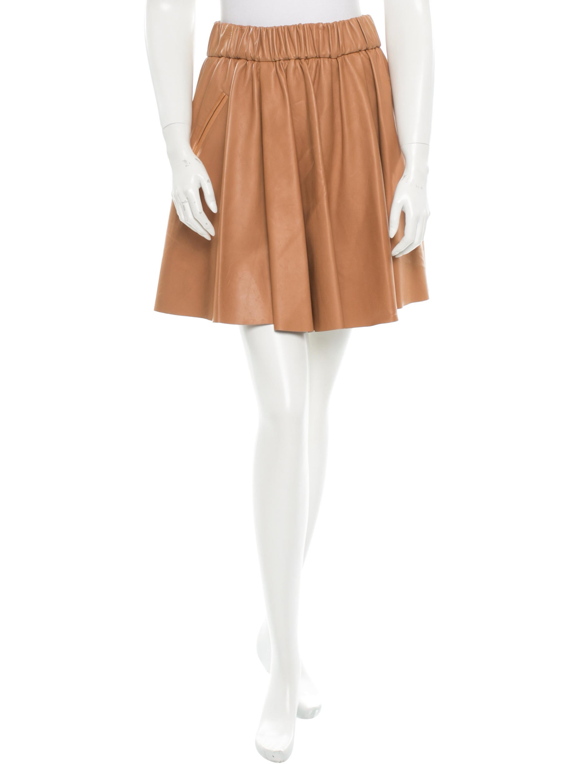 acne leather skirt clothing acn21826 the realreal
