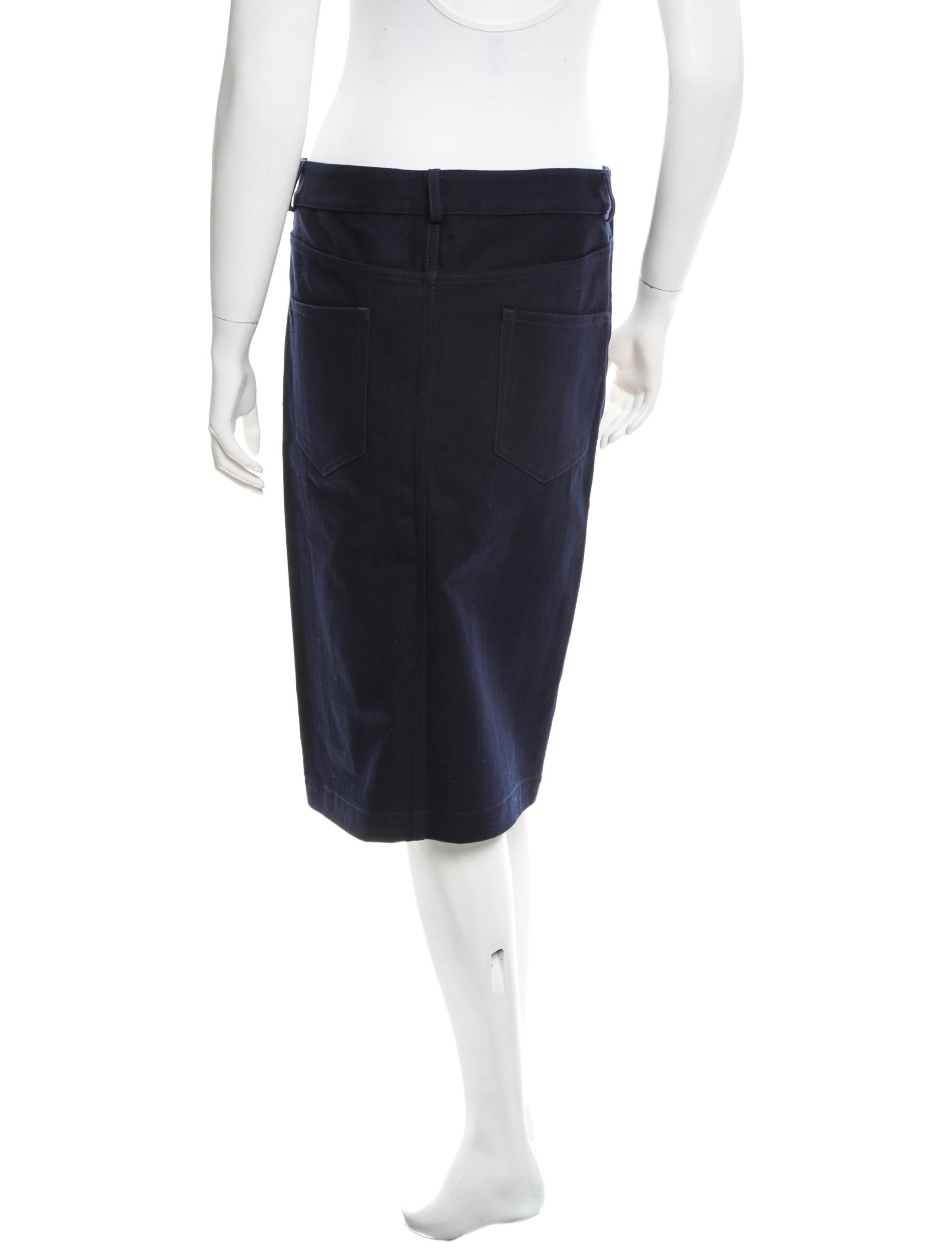 acne denim pencil skirt clothing acn23697 the realreal