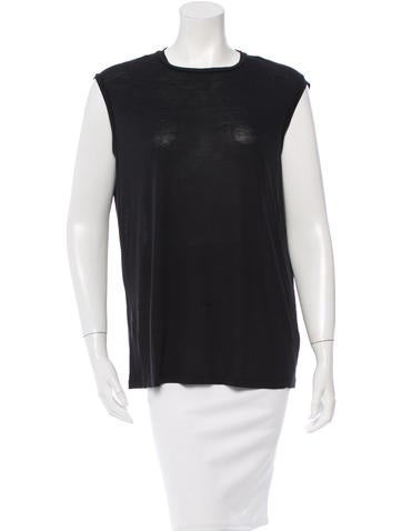 Acne Sleeveless Jersey Top None