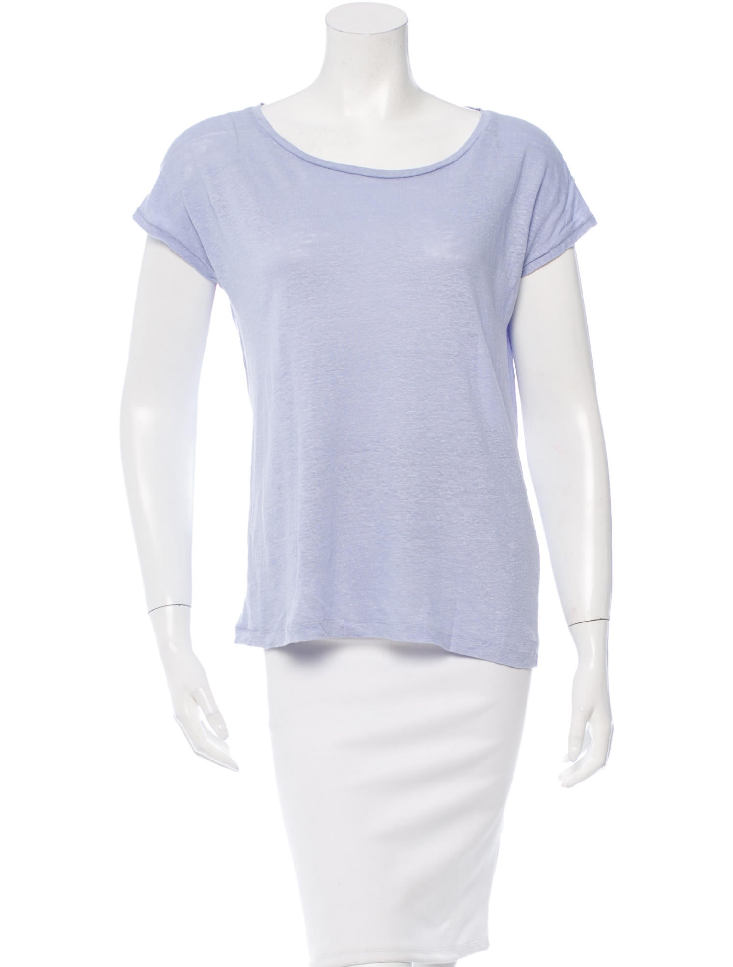 Acne Scoop Neck T Shirt Clothing Acn25956 The Realreal