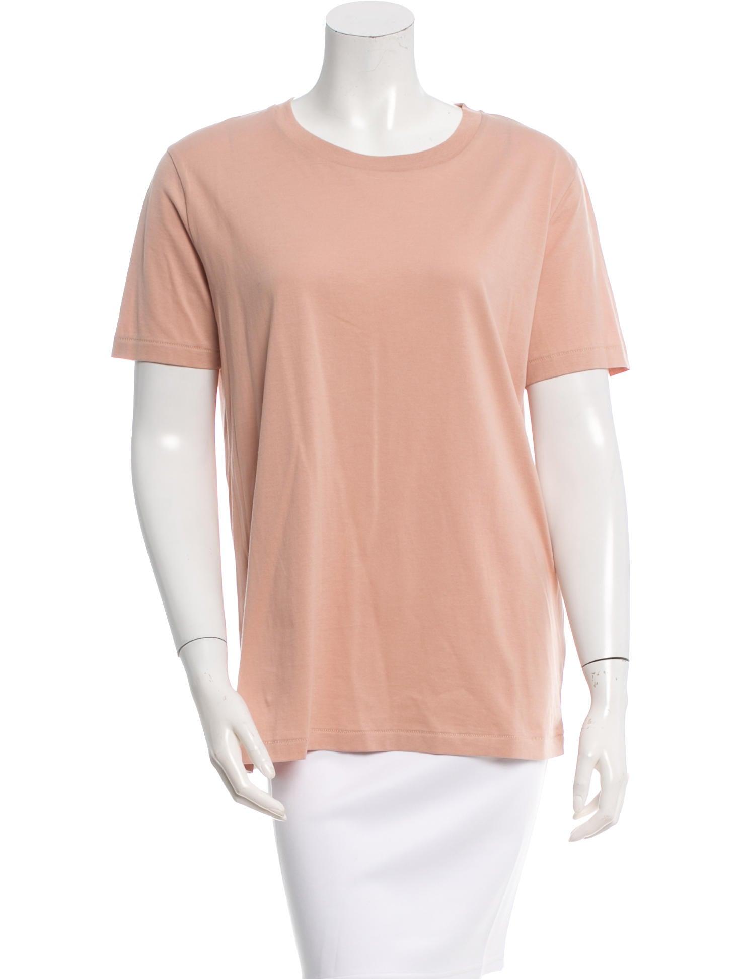 Acne Short Sleeve Scoop Neck T Shirt Clothing Acn26381