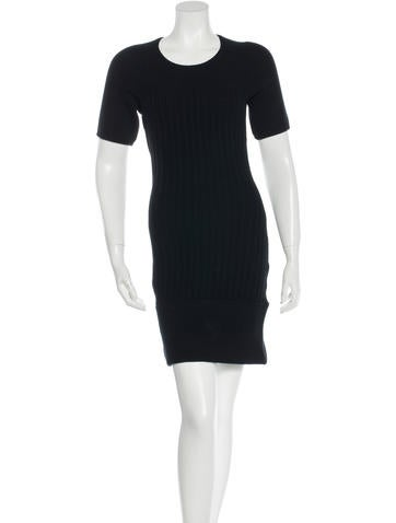 Acne Wool Rib Knit Dress None