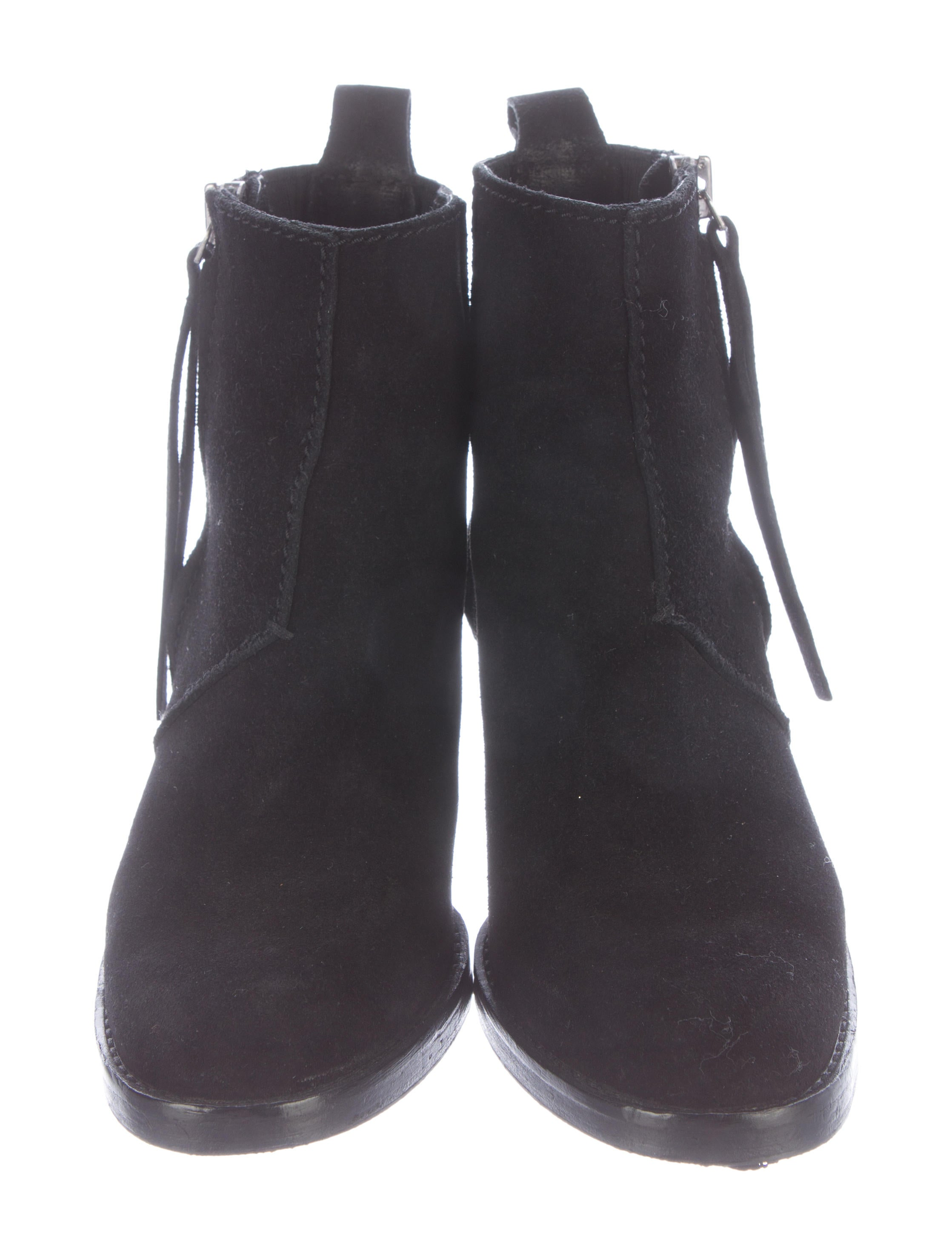 acne pistol suede ankle boots shoes acn26529 the realreal. Black Bedroom Furniture Sets. Home Design Ideas