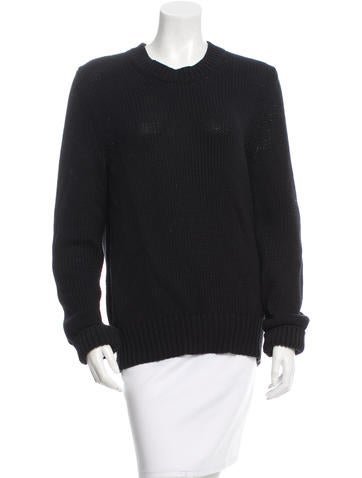 Acne Crew Neck Rib Knit Sweater None