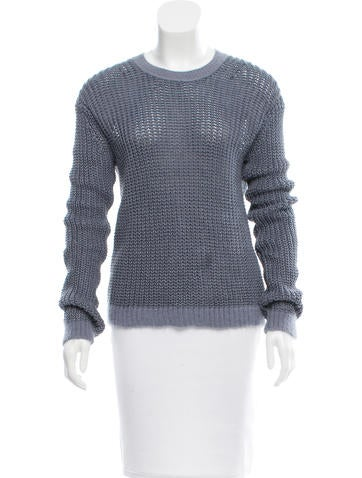 Acne Linen Rib Knit Sweater None