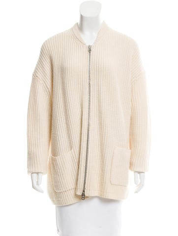Acne Wool Rib Knit Cardigan None