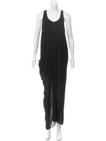Acne Aymmetrical Maxi Dress None