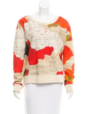Acne Abstract Print Rib Knit Sweater None