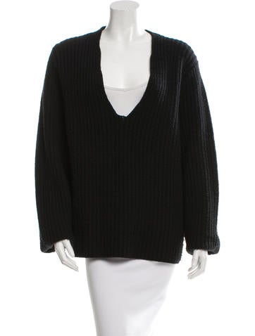 Acne Wool V-Neck Sweater None