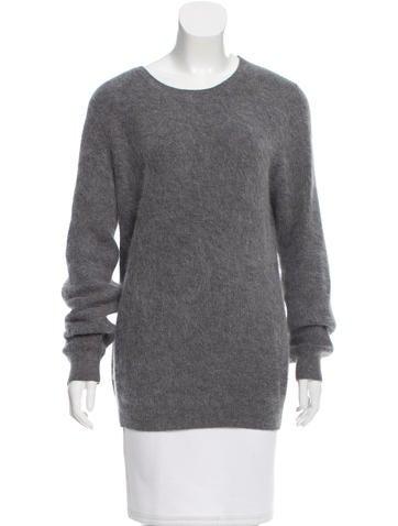 Acne Angora Rib Knit Sweater None