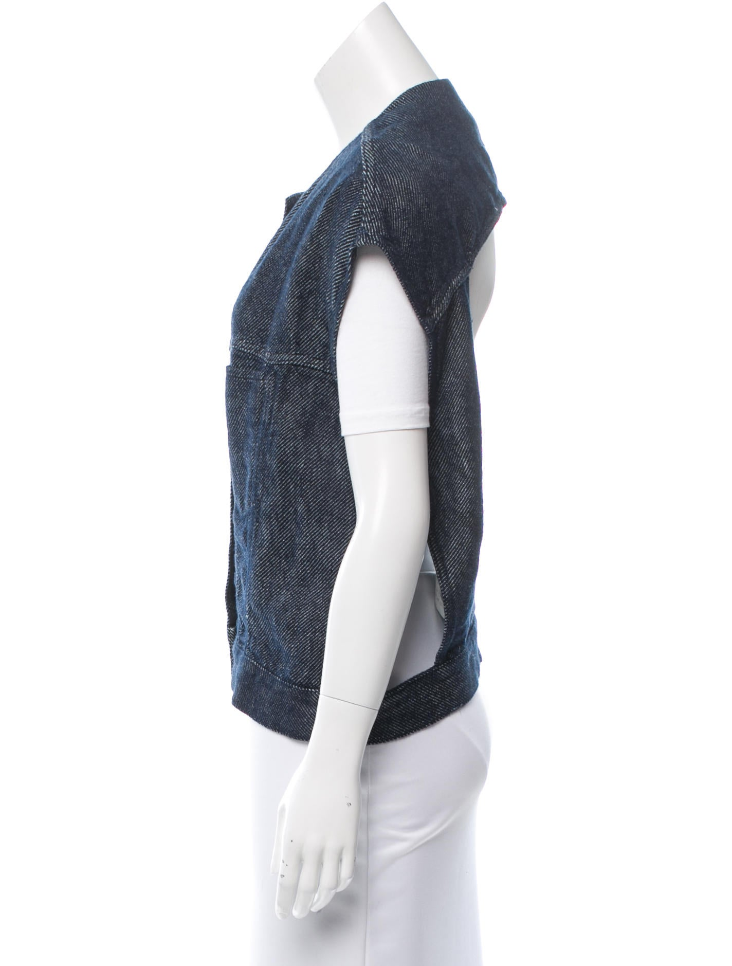 Acne Linen Open Back Vest - Clothing - ACN27882 | The RealReal