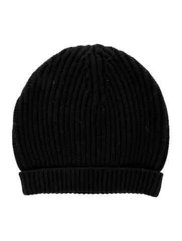 Acne Black Rib Knit Beanie None