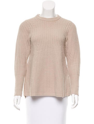 Acne Wool Long Sleeve Sweater None