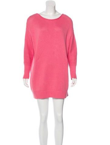 Acne Rib Knit Sweater Dress None
