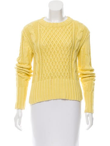 Acne Long Sleeve Cable Knit Sweater None