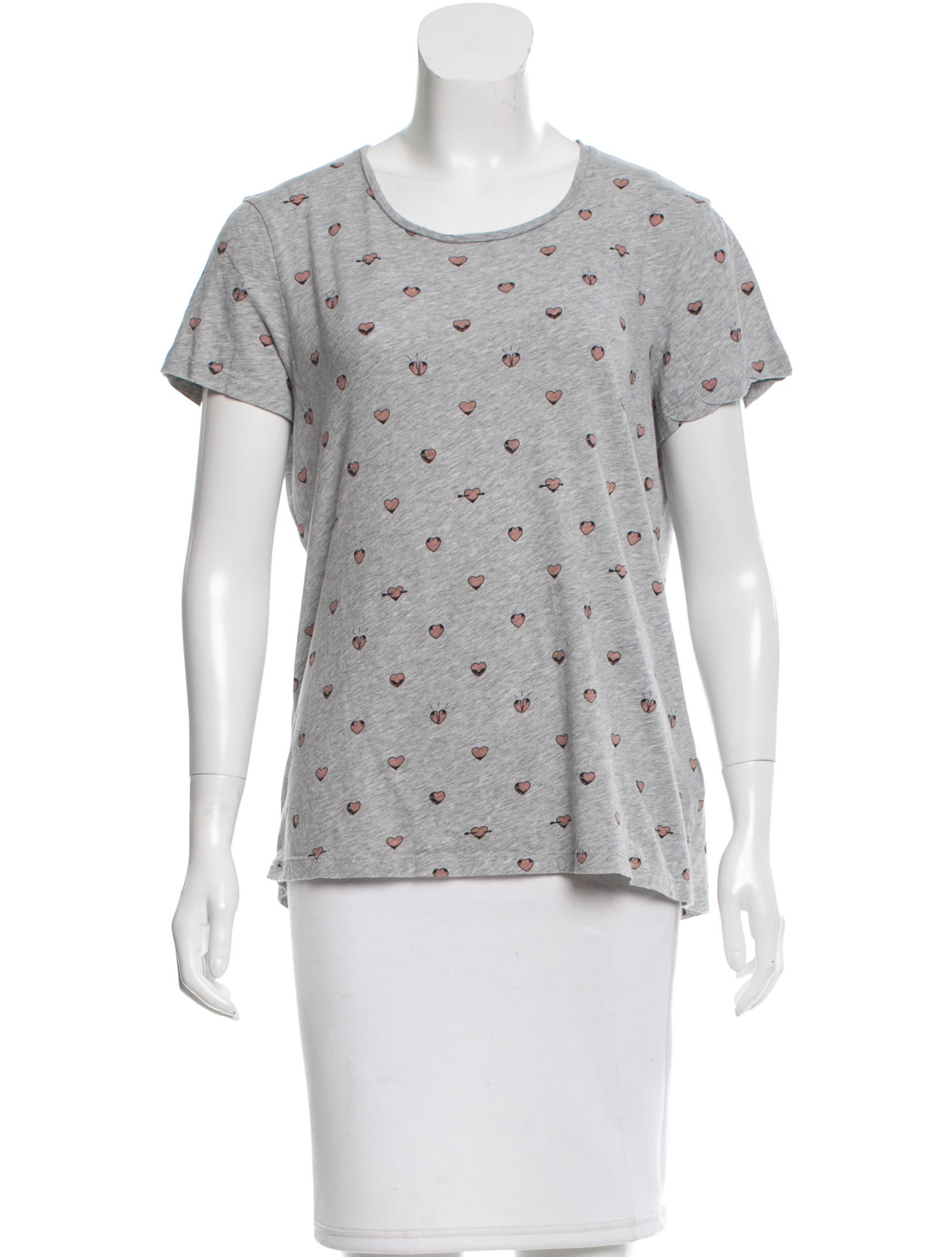 Acne Heart Print T Shirt Clothing Acn28272 The Realreal