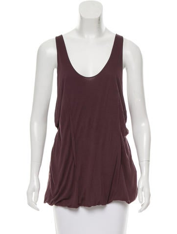 Acne Sleeveless Scoop Neck Top None