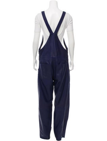 Acne Chagall Leather Overalls