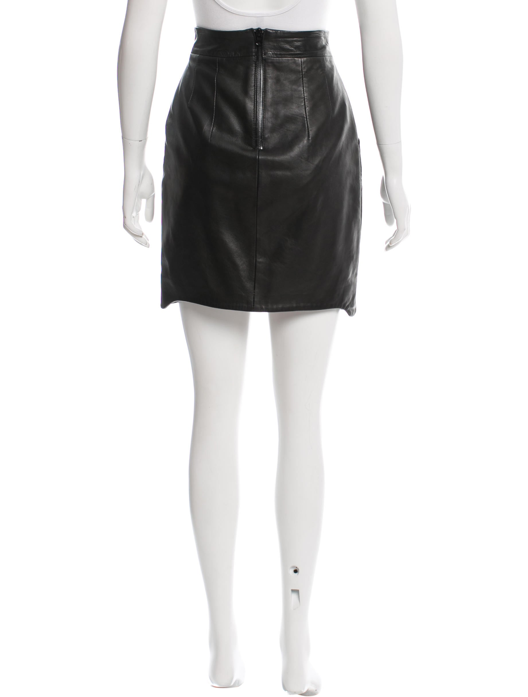 acne leather pencil skirt clothing acn28632 the realreal