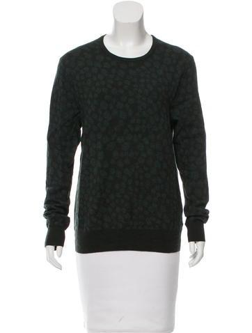 Acne Printed Wool Sweatshirt None