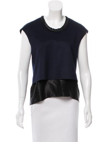 Acne Sleeveless Wool Top None