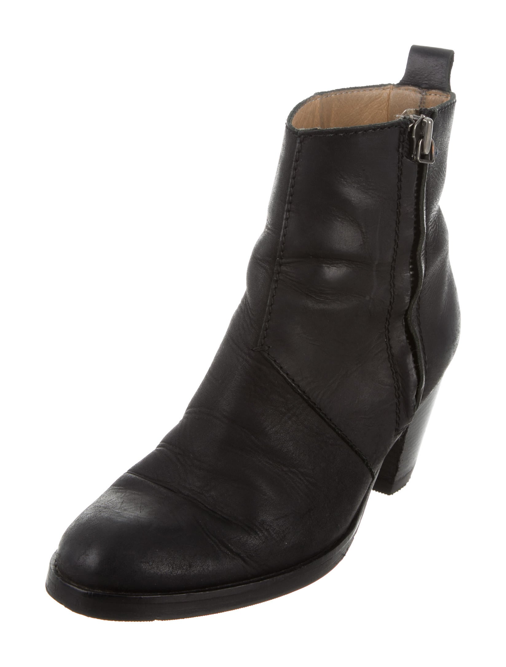 Acne Pistol Leather Ankle Boots - Shoes - ACN28862 | The RealReal