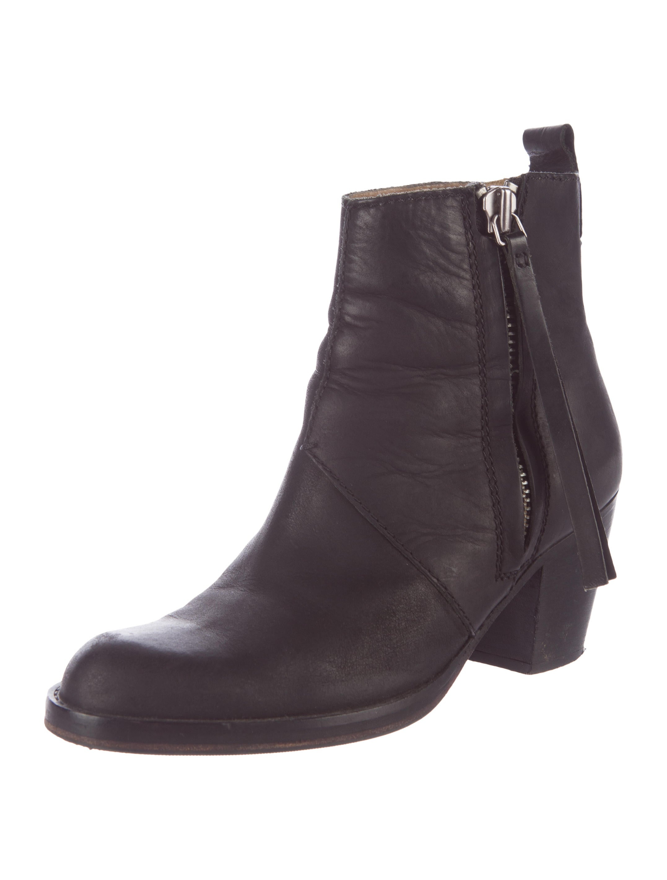 Acne Leather Pistol Ankle Boots - Shoes - ACN29088 | The RealReal