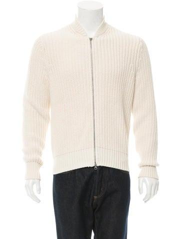 Acne Chet Zip-Up Sweater None